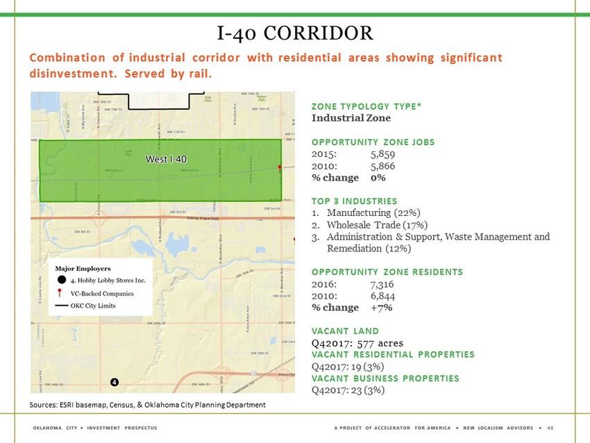 I 40 Oklahoma Map.Okc Velocity Opportunity Zones Create Big Potential In Okc